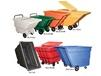 HINGED LIDS FOR NESTABLE TILT TRUCKS & SELF-DUMPING HOPPERS