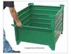 CORRUGATED BULK STEEL CONTAINERS WITH DROP GATE